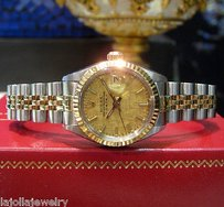 Rolex Ladies Rolex Oyster Perpetual Date Two-tone Yellow Gold And Stainless Steel