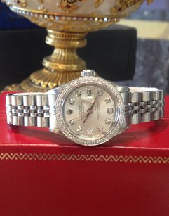 Rolex Ladies Rolex Oyster Perpetual Datejust Diamonds Stainless Steel Watch
