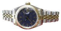 Rolex Ladies Rolex Oyster Perpetual Datejust Gold Stainless Steel Roman Numerals Watch