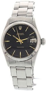 Rolex Ladies Rolex Oysterdate Precision Ss Watch 6466