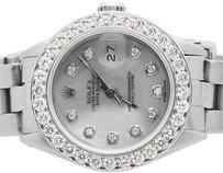 Rolex Ladies Stainless Steel 26mm Rolex Datejust Oyster Bracelet Diamond Watch Ct