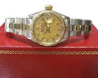 Rolex Ladies Vintage Rolex Oyster Perpetual Date Stainless Steel Gold Watch Circa 1967