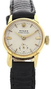 Rolex Ladies Vintage Rolex Precision 18k Yellow Gold Watch