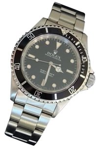Rolex Rolex Submariner Mens Stainless Steel Watch Oyster Band No Date Sub Black 14060