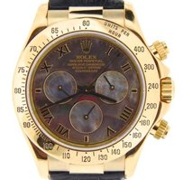 Rolex Men Rolex Solid 18k Yellow Gold Daytona Watch Black Mother Of Pearl Roman 116518