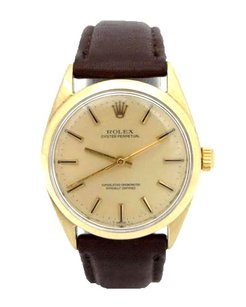 Rolex Men's Vintage Rolex Oyster Perpetual Leather Band Watch