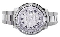 Rolex Mens Mm Custom Datejust Ii Watch With Ct Diamond And Pave Diamond Dial