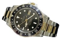 Rolex Mens Rolex 2tone 14k Yellow Goldstainless Steel Gmt-master Oyster Black 16753