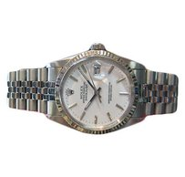 Rolex Mens Rolex Oyster Perpetual Datejust White Gold And Stainless Steel White Dial
