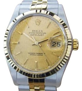 Rolex Mens Rolex Quickset Date Ref 16013 Solid 18k Gold Luxury Dress Watch M11