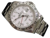 Rolex Mens Rolex Stainless Steel Explorer Ii Date Watch 40mm Oyster Wwhite Dial 16570