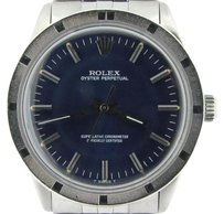 Rolex Mens Rolex Stainless Steel Oyster Perpetual No-date Watch Jubilee Blue 1007