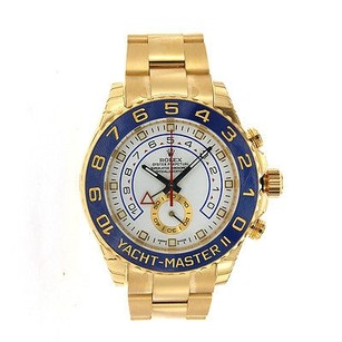 Rolex Mens Rolex Watches - Yacht-master Ii - Yellow Gold 116688 - Blue Hands