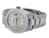 Rolex Mens Stainless Steel Rolex Datejust Oyster Mm Silver Dial Watch Ct