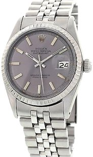 Rolex Mens Vintage Rolex Oyster Perpetual Datejust 1603 Stainless Steel
