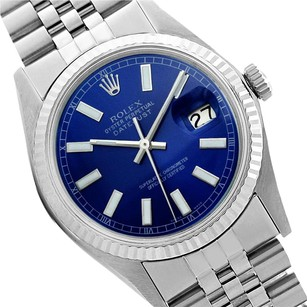 Rolex Preowned Datejust Blue dial Mens Watch 36mm 16014