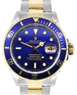Rolex Rolex 16613 Submariner Date Two-tone Blue Dial Watch