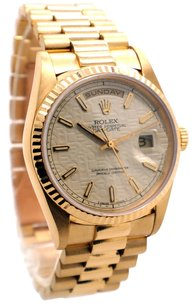 Rolex Rolex Day-Date 18238 18K Gold Ivory Jubilee Dial Men's Presidential Watch (DQ)