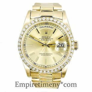 Rolex Rolex 18238 President Day-date 18k Gold Pave 1.75ct Diamonds Bezel Mens Watch