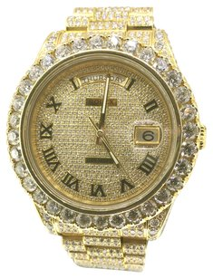 Rolex Rolex 18k Gold Diamond Day-Date Watch