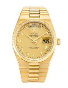 Rolex Rolex 18K Gold Oysterquartz Day-Date 36mm Men's Watch