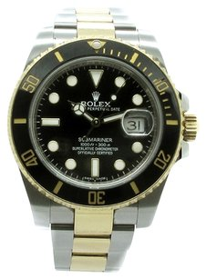 Rolex ROLEX Submariner 116613 18K Gold and Steel Black Dial Men's Watch