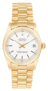Rolex Rolex Datejust 18K Yellow Gold White Dial Presidential Unisex Watch