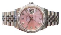 Rolex Rolex 36mm Datejust Pink Mother-of-pearl Diamond Bezel Oyster Perpetual Watch