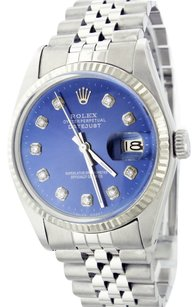 Rolex Rolex 36mm Datejust Stainless Steel and White Gold Blue Diamond Watch