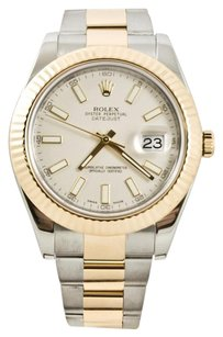 Rolex Rolex 41mm Gold Datejust II Model 116333 Ivory Index Dial