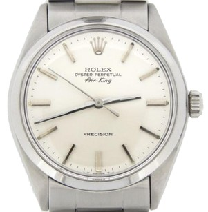 Rolex Rolex Air King Precision Men Stainless Steel Watch Silver Stick Dial Oyster 5500