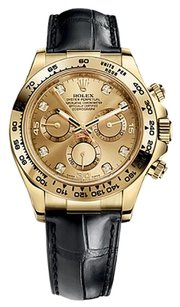 Rolex Rolex Cosmograph Daytona Champagne Diamond Dial Gold Watch 116518