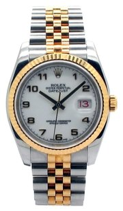 Rolex Rolex Datejust 116233 18K Gold and Stainless Steel White Dial Men's Watch