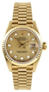 Rolex Rolex DateJust 18K Original Diamond Ladies Presidential Watch
