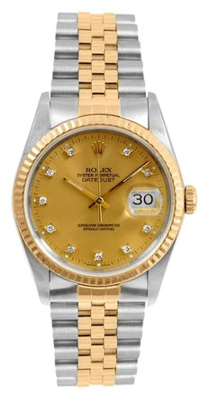 Rolex Rolex DateJust 18K Yellow Gold and Steel Diamond Men's Watch