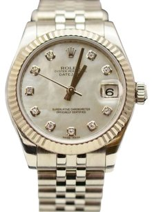 Rolex Rolex Datejust 31 mm 18k Bezel Factory Gray MOP Diamond Dial 178274