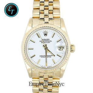 Rolex Rolex Datejust 68278 18k Gold Jubilee Band Ladies Midsize Watch