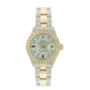 Rolex Rolex Datejust 69173 Ice Blue Dial Daimond and Sapphire Lady Watch