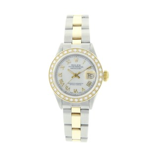 Rolex Rolex Datejust 69173 Mother of Pearl Diamond Oyster Band TwoTone Watch