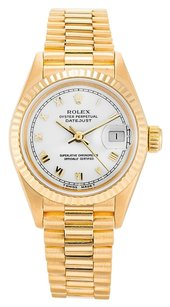 Rolex ROLEX DATEJUST 69178 18K YELLOW GOLD WHITE DIAL LADIES WATCH