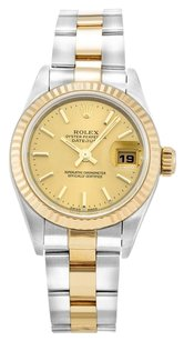 Rolex ROLEX DATEJUST 79173 STAINLESS STEEL AND 18K YELLOW GOLD LADIES WATCH
