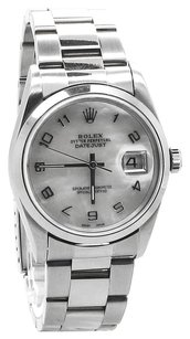 Rolex ROLEX DATEJUST Arabic Numeral MOP Dial Men's Watch