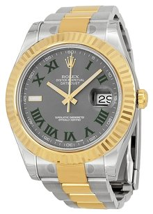Rolex Rolex Datejust Automatic 18kt Gold Bezel Men's Watch 116333