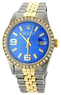 Rolex Rolex DateJust Custom Blue Wave Diamond Men's Watch