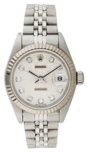 Rolex ROLEX DATEJUST STAINLESS STEEL CUSTOM DIAMOND LADIES' WATCH