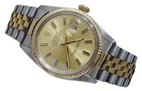 Rolex Rolex Datejust Mens 1980s 2tone 18k Gold Stainless Steel Jubilee Champagne 16013