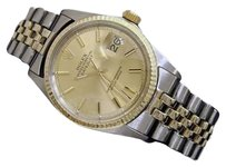 Rolex Rolex Datejust Mens 2tone 14k Gold Stainless Steel Watch Oval Link Jubilee 1601