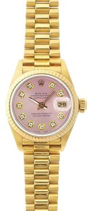 Rolex Rolex DateJust Pink Diamond Dial President Watch 69178