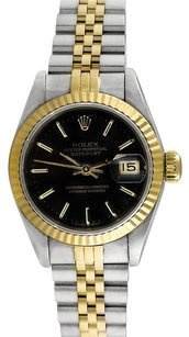 Rolex Rolex Datejust Stainless Steel and 18K Gold Black Dial Ladies' Watch