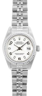 Rolex Rolex DateJust Stainless Steel White Arabic Dial Watch 69174
